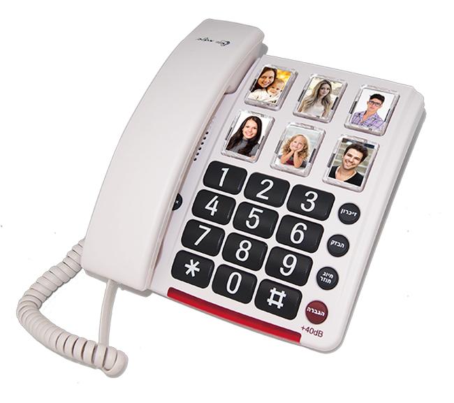 טלפון נייח מוגבר עם תמונות