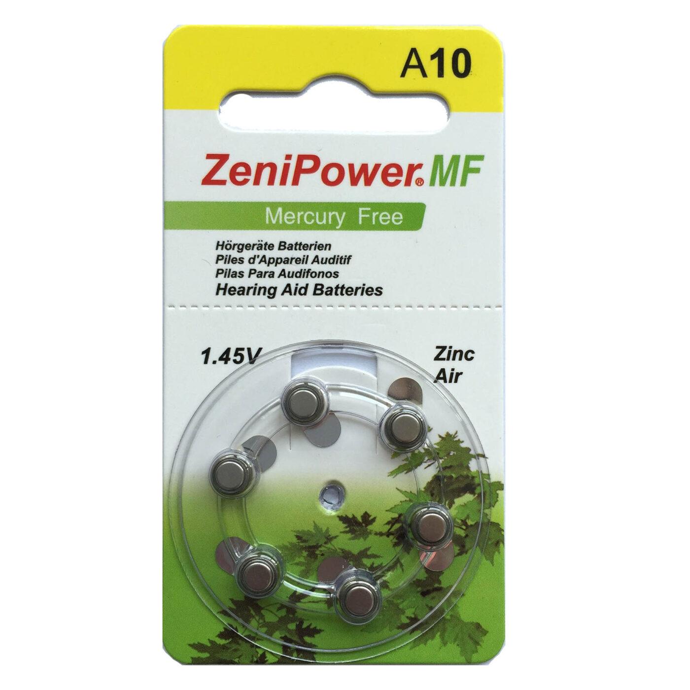 סוללות למכשירי שמיעה 10 ZeniPower