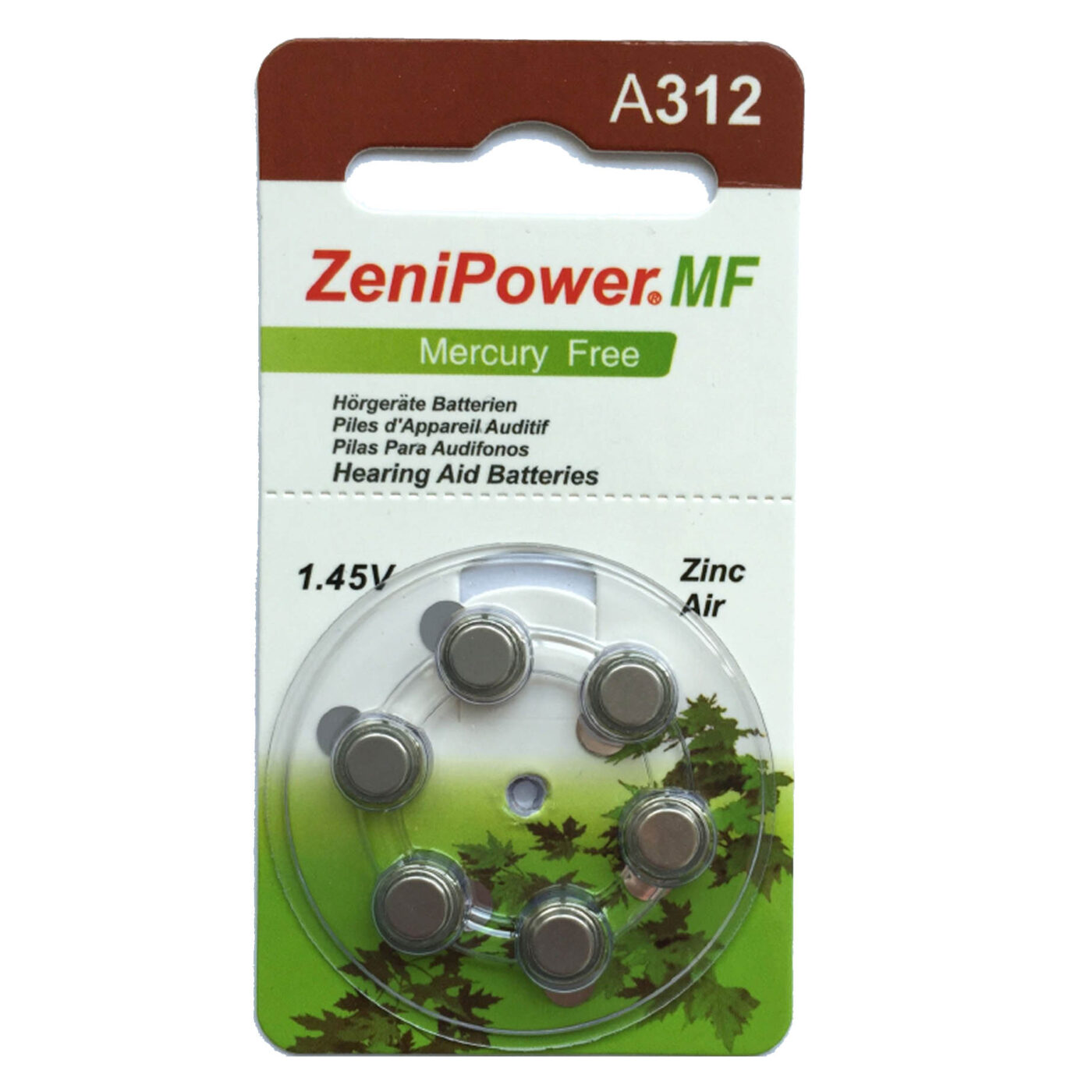 סוללות למכשירי שמיעה 312 ZeniPower