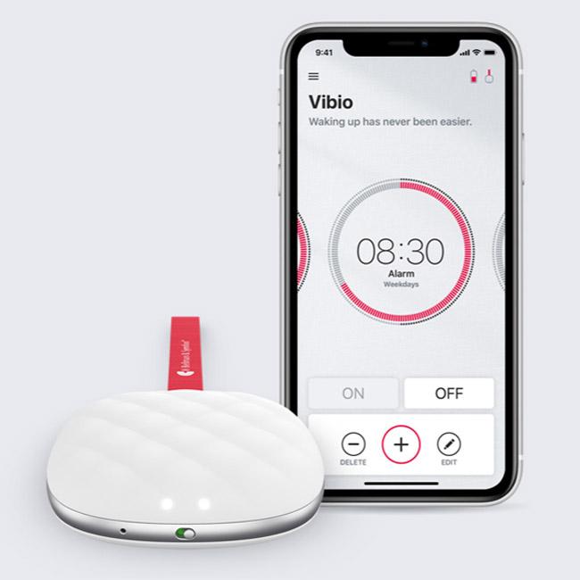שעון מעורר משולב כרית רוטטת לסמארטפון VIBIO
